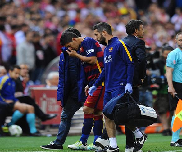 Goditja e radhës për Barcën lëndohet Suarez